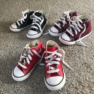 Bundle of 3 converse shoes